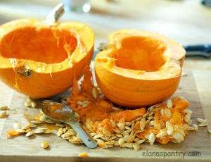 How to roast a pumpkin from Elana's Pantry | upickfarmlocator.com